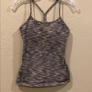 Lululemon strappy tank grey and white